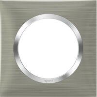 Plaque de finition Dooxie Inox & Chrome - 1, 2, ou 3 postes / Legrand