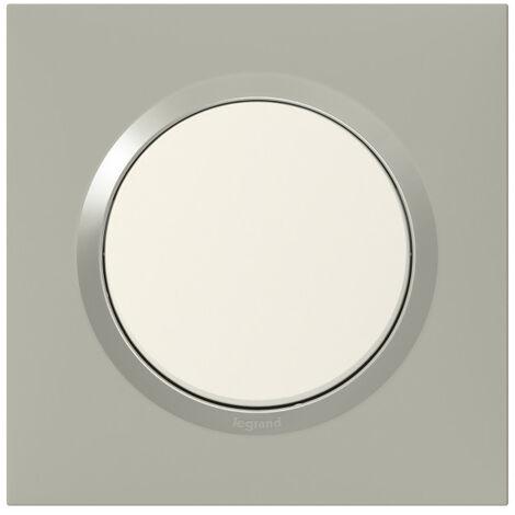 Plaque de finition Dooxie Plume - 1, 2, 3 ou 4 postes / Legrand
