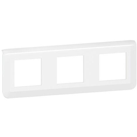 Plaque de finition horizontale Mosaic pour 3x2 modules blanc (078806L)