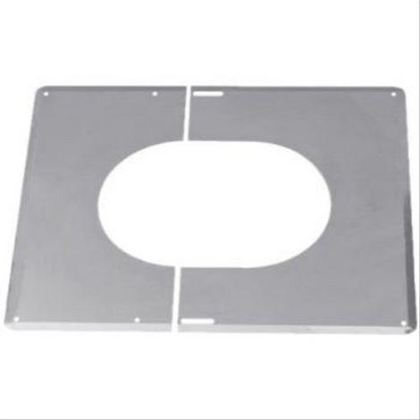 Plaque de finition inox TEN 30° à 45° Diam130mm