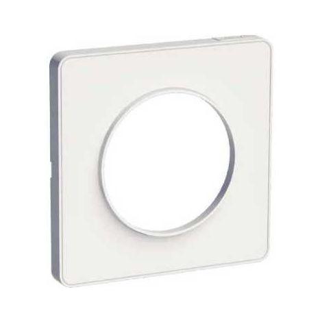 Plaque de finition Odace Touch - 1 poste - Blanc RAL9003 - Schneider Electric
