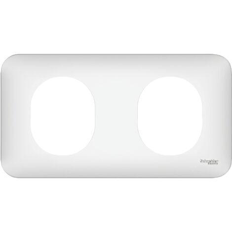 Plaque de finition Ovalis - 2 postes - Horizontal - Schneider Electric