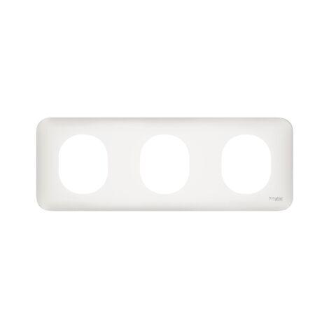 Plaque de finition Ovalis 3 Postes - Horizontal - Schneider Electric
