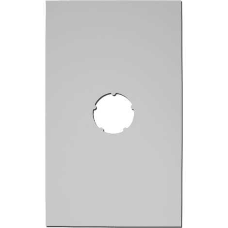 Plaque de finition plafond blanche 500x300mm Ø 130