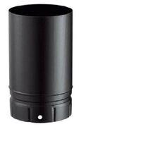 Plaque de finition pour conduit isolé inox/galva pour poêle à bois - Plaque de finition ronde - Ht 12 cm - Diamètre : 150 - Couleur : Noir