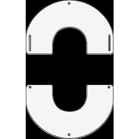 Plaque de finition ronde blanche Ø 350 mm