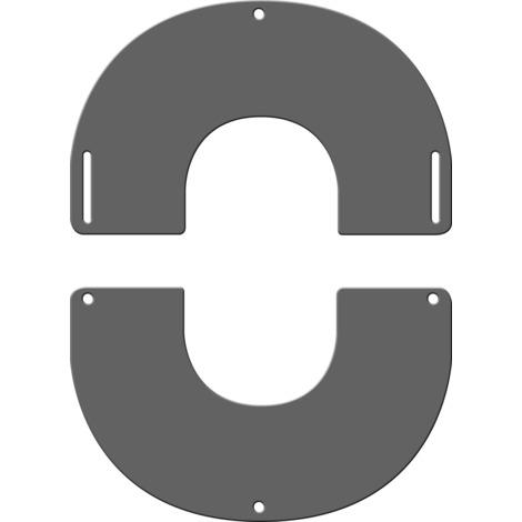 Plaque de finition ronde grise Ø 200 mm