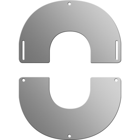 Plaque de finition ronde inox Ø 150 mm