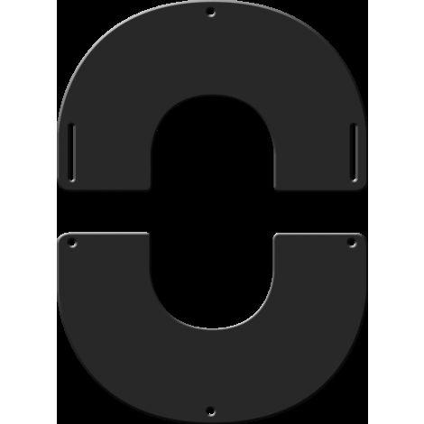 Plaque de finition ronde noire Ø 130 mm