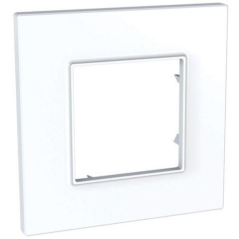 "main image of ""Plaque de finition simple blanche polaire 2M pour appareillage mural ALTIRA Icone SCHNEIDER ALB44810"""