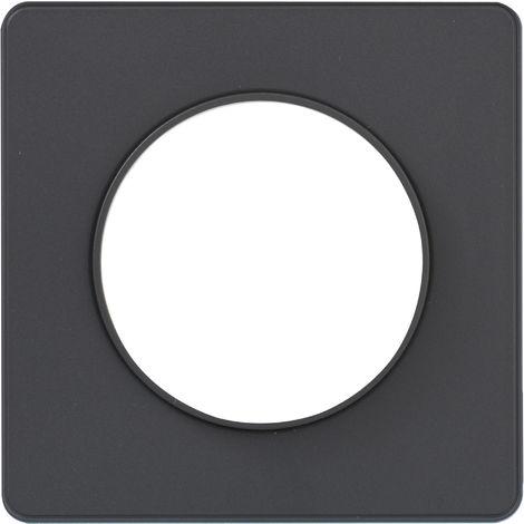 Plaque de finition simple Odace Touch clipsable - Anthracite liseré anthracite