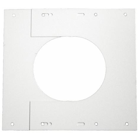 Plaque de finition TEN - Pour conduit diamètre 80/125 - Tolerie Emaillerie Nantaise