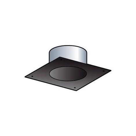 Plaque de finition tubage (rigide ou flexible) - Diamètre : 150 - Carrée 25 x 25 cm (section 35 x 3) - Couleur Blanc