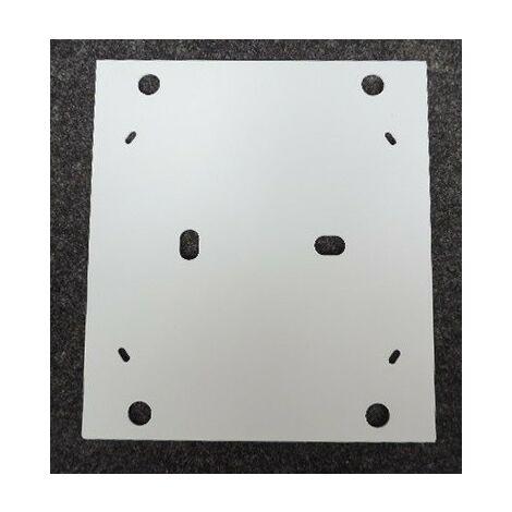 Plaque de fond double isolement 244x219x2mm pour platine EDF série 40CD GEWISS GW40530