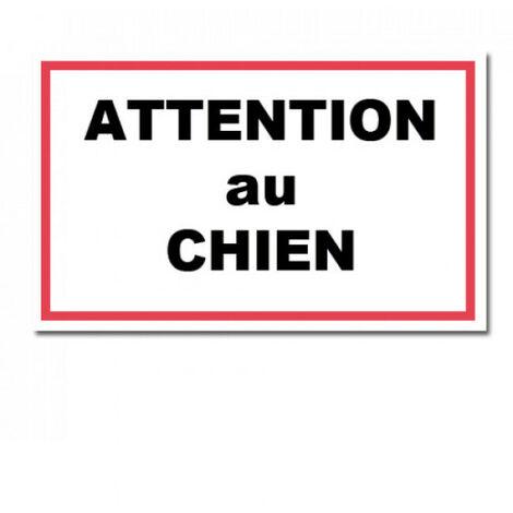 Plaque de garde ATTENTION AU CHIEN