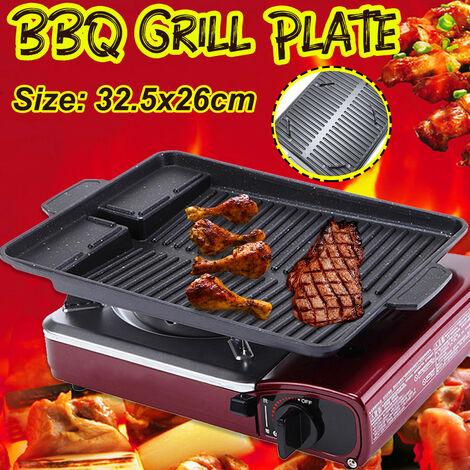 Plaque de gril de barbecue coréen portable Maifan revêtement de pierre plat de Barbecue plaque de casserole antiadhésive pour le Camping en plein air