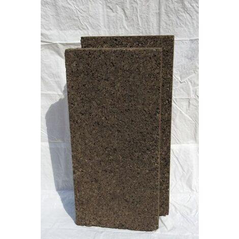 Plaque de liège expansé bouveté (rainuré languette) certifié ACERMI - AMORIM - 200mm - 200mm | panneau(x) de 0.5 m² - 0
