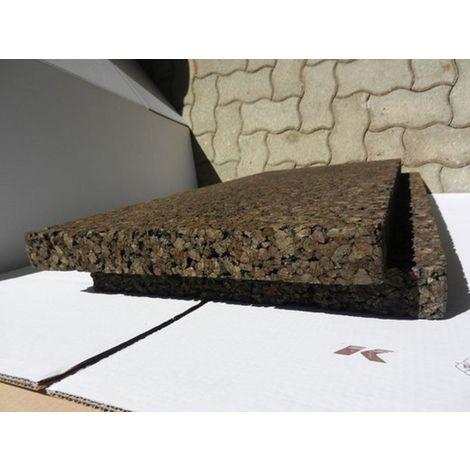 Plaque de liège expansé bouveté (rainuré languette) certifié ACERMI - AMORIM - 50mm - 50mm | panneau(x) de 0.5 m² - 0