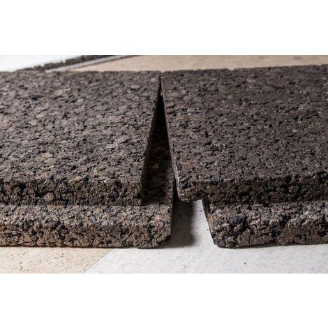 Plaque de liège expansé bouveté (rainuré languette) certifié ACERMI - AMORIM - 60mm - 60mm | panneau(x) de 0.5 m² - 0