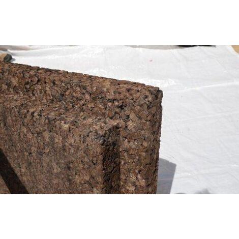 Plaque de liège expansé bouveté (rainuré languette) certifié ACERMI - AMORIM - 80mm - 80mm | panneau(x) de 0.5 m² - 0