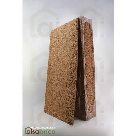 Plaque de liège naturel poncée dense isolante - 20mm - 20mm | panneau(x) de 0.5 m² - 0