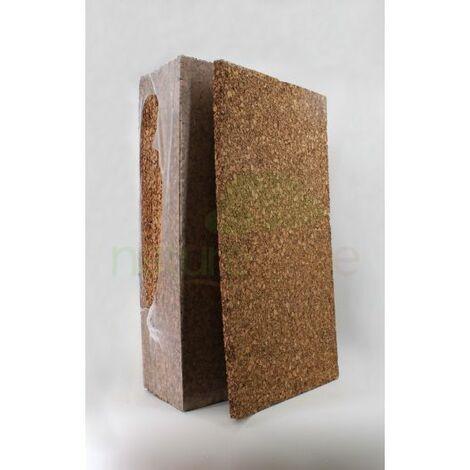 Plaque de liège naturel poncée dense isolante - 30mm - 30mm | panneau(x) de 0.5 m² - 0
