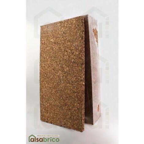 Plaque de liège naturel poncée dense isolante - 40mm - 40mm | panneau(x) de 0.5 m² - 0