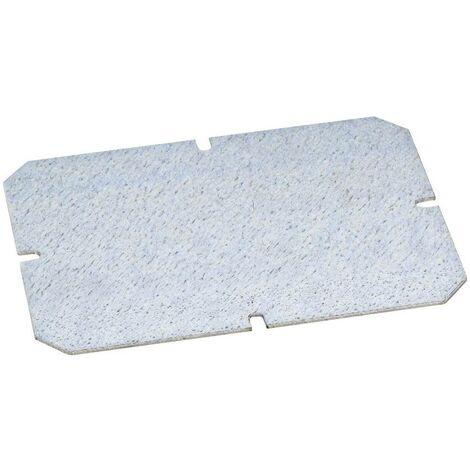 Plaque de montage Fibox 5518022 (L x l) 140 mm x 100 mm Tôle dacier galvanisé 1 pc(s)