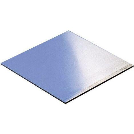 Plaque de montage (L x l x h) 200 x 100 x 1.5 mm aluminium aluminium S58724