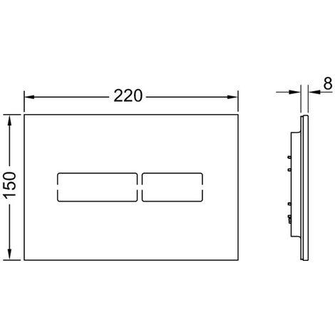 Plaque de poussée TECE WC TECElux Mini verre, avec déclenchement électronique sans contact, Coloris: Noir - 9240961