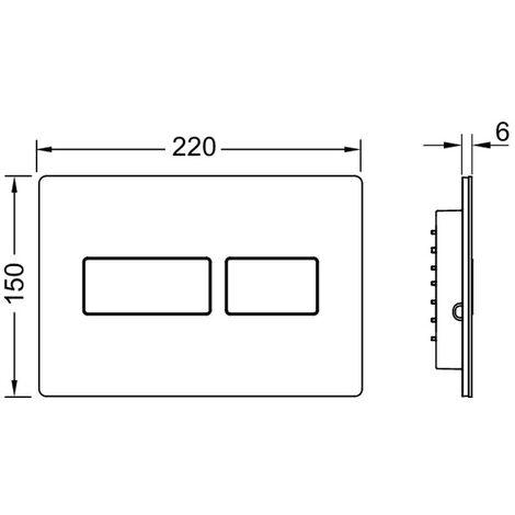 Plaque de poussée TECE WC TECEsolid, en acier inoxydable, pour la technologie à double chasse d'eau, Coloris: acier inoxydable brossé - 9240430