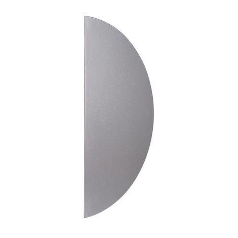 Plaque de propreté 1/2 lune aluminium argent Duval