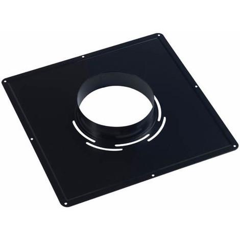 Plaque de propreté 400x400 noire Ø125