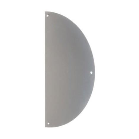Plaque de propreté inox - Demi-lune - 300 x 150 mm - Duval
