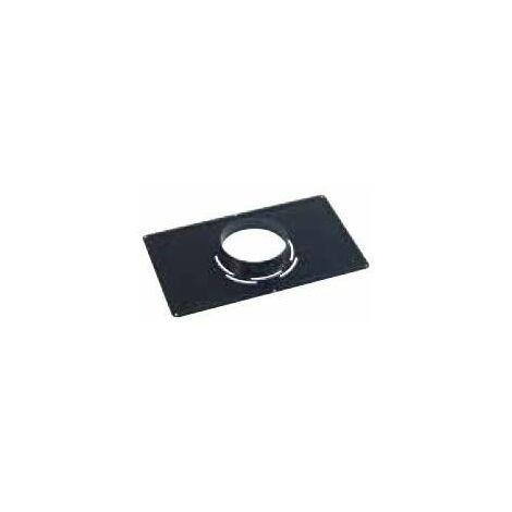Plaque de propreté inox noir 30x50, D.125