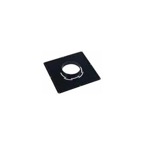 Plaque de propreté inox noir 40x40, D.155