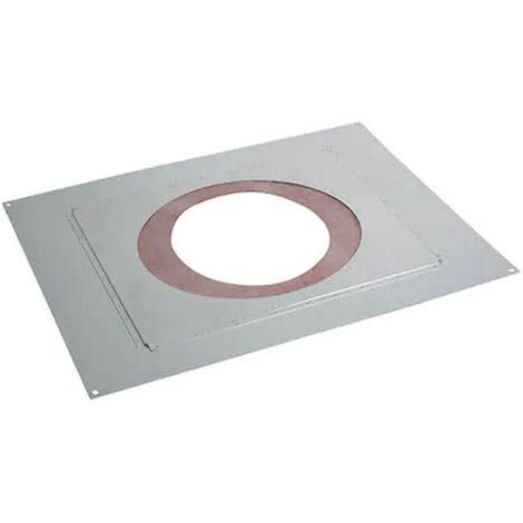 Plaque de propreté plafond rampant 41-80% Inox galva Noir 9030 POUJOULAT PPPDSER - 37080714