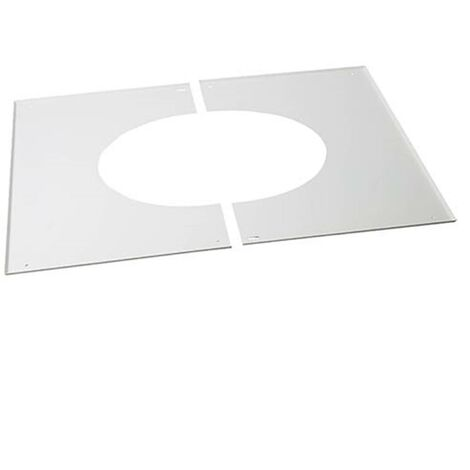 Plaque de propreté pour plaque PDSE pour poêles à pellets - Plaque de propreté pour plaque PDSE pour plafond rampant de 10% à 40%