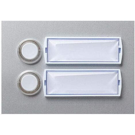 Plaque de sonnerie en aluminium avec 2 contacts X95463
