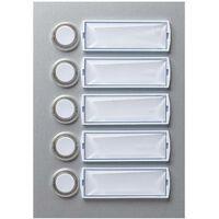 Plaque de sonnette en aluminium 5 contacts X95466