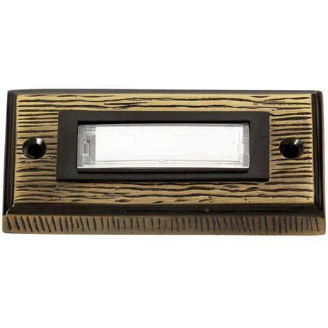 Plaque de sonnette simple Heidemann 70301 bronze 24 V/1 A