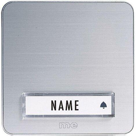 Plaque de sonnette simple m-e modern-electronics KTA-1 A/S argent 12 V/1 A