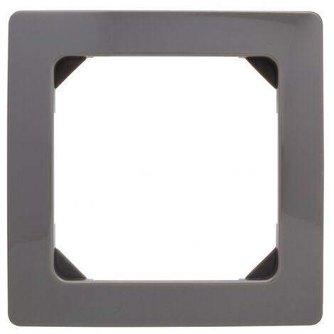"""main image of """"Plaque décorative 1 poste havane (gris souris)"""""""