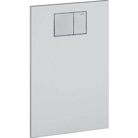 Plaque design Geberit pour l'accessoire WC Geberit AquaClean, Coloris: Verre Blanc - 115.324.SI.1