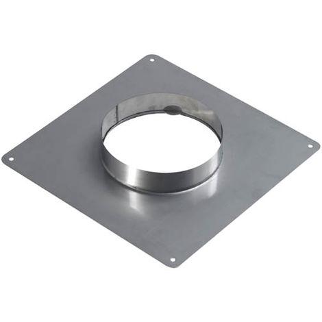 Plaque d'étanchéité inox 350x350 pour tubage diametre int.150/156 - ext.155/161