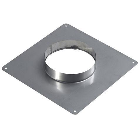 Plaque d'étanchéité inox 350x350 pour tubage diametre int.80 / ext.86