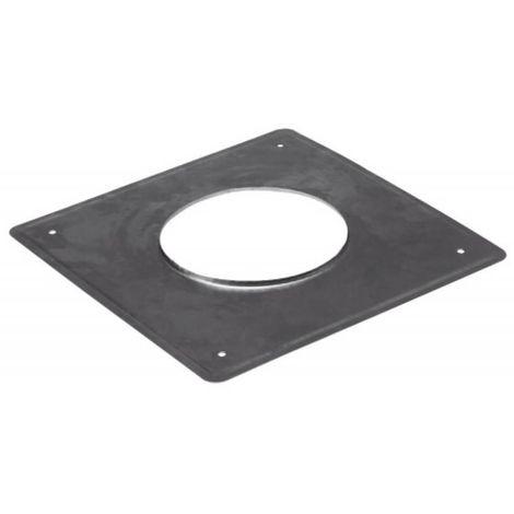 Plaque d'étanchéité inox carré 350x350 mm Ø 125