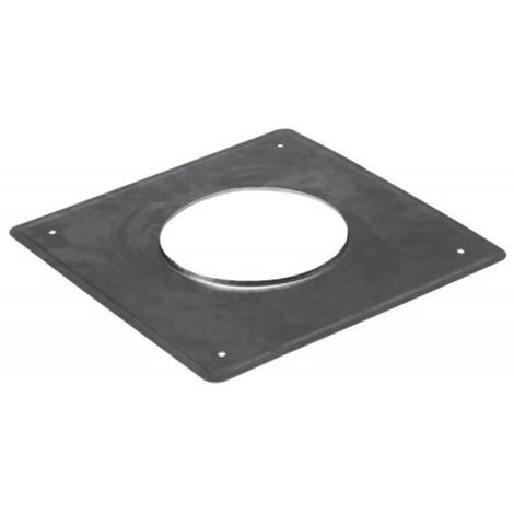 Plaque d'étanchéité inox carré 350x350 mm Ø 140