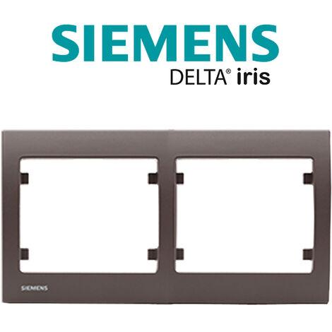 Plaque double horizontale Soft Marron Delta IRIS SIEMENS - SIEMENS