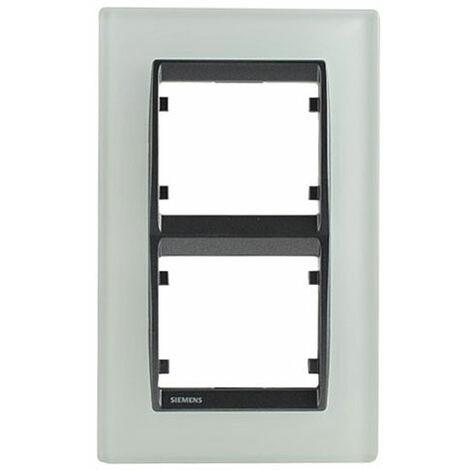 Plaque double verticale en verre Blanc Delta IRIS - SIEMENS